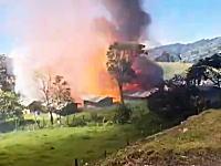 ヤバイヤバイwwwコロンビアで起きた花火工場爆発の瞬間の映像がマジはんぱないw
