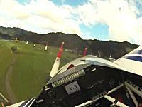 最大重力加速度9.8G!エアレースのパイロット視点の映像。レッドブル・リンク