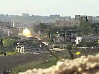 シリア動画。戦車に狙われたカメラ。主砲が迫ってくる弾道がみえる