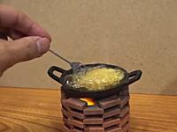 これは楽しい!小さな小さなお料理動画。食べれるミニチュアクッキングがとても(・∀・)イイ