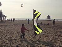 なんつー動きしてんだ。クワッド凧マスターが自由自在に凧を飛ばしている映像。