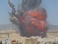 イエメンの武器庫をサウジが空爆。その瞬間の映像がネットにアップされる。