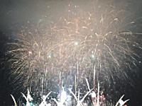 なにわ淀川花火大会楽しいすぎ。2015フィナーレの様子。