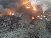 中国大爆発の爆心地の様子を空撮したビデオがハンパねえ。これは核爆弾だわ。