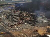 爆発が起きた中国天津の現場をドローンで空撮した映像に驚愕。死者は114人に。