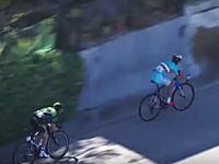 どう考えても失格w自転車レース中に車に掴まって鬼加速したヴィンチェンツォ・ニバリが失格処分に。