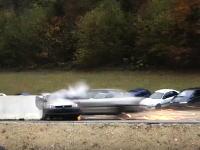200km/hまで加速させた車を衝突させるクラッシュテストの映像が凄まじいw